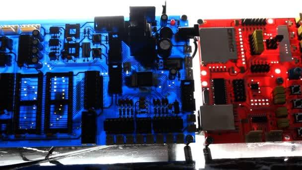 Dolly Shot von elektronischen Leiterplatten