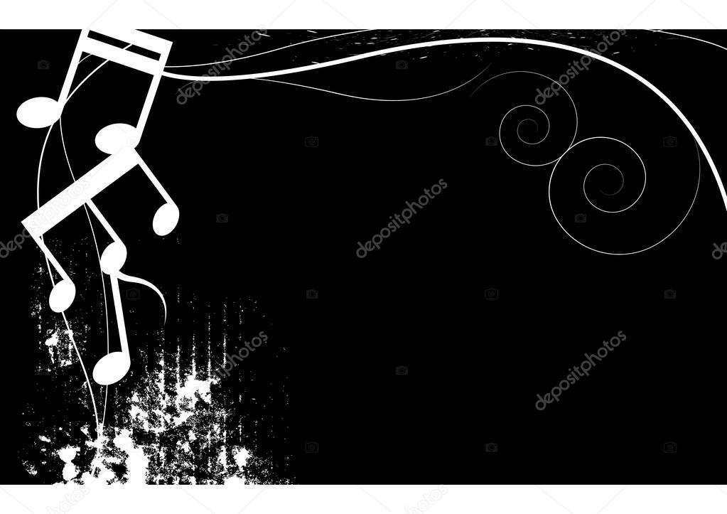 Sfondo Grunge Musica Bianco E Nero Vettoriali Stock
