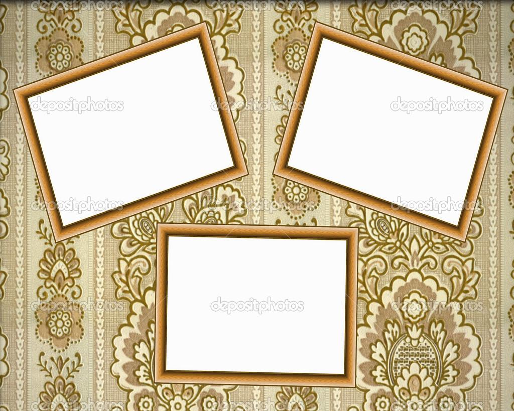 Three empty wooden frames on the wall — Stock Photo © Flik47 #12494392