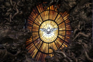 Holy Spirit. Detail of main altar. Vatican