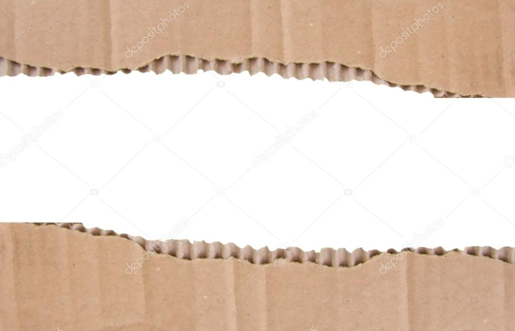 marco de cartón sobre fondo blanco — Fotos de Stock © Flik47 #17437427