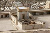 druhý chrám. model starověkého Jeruzaléma.