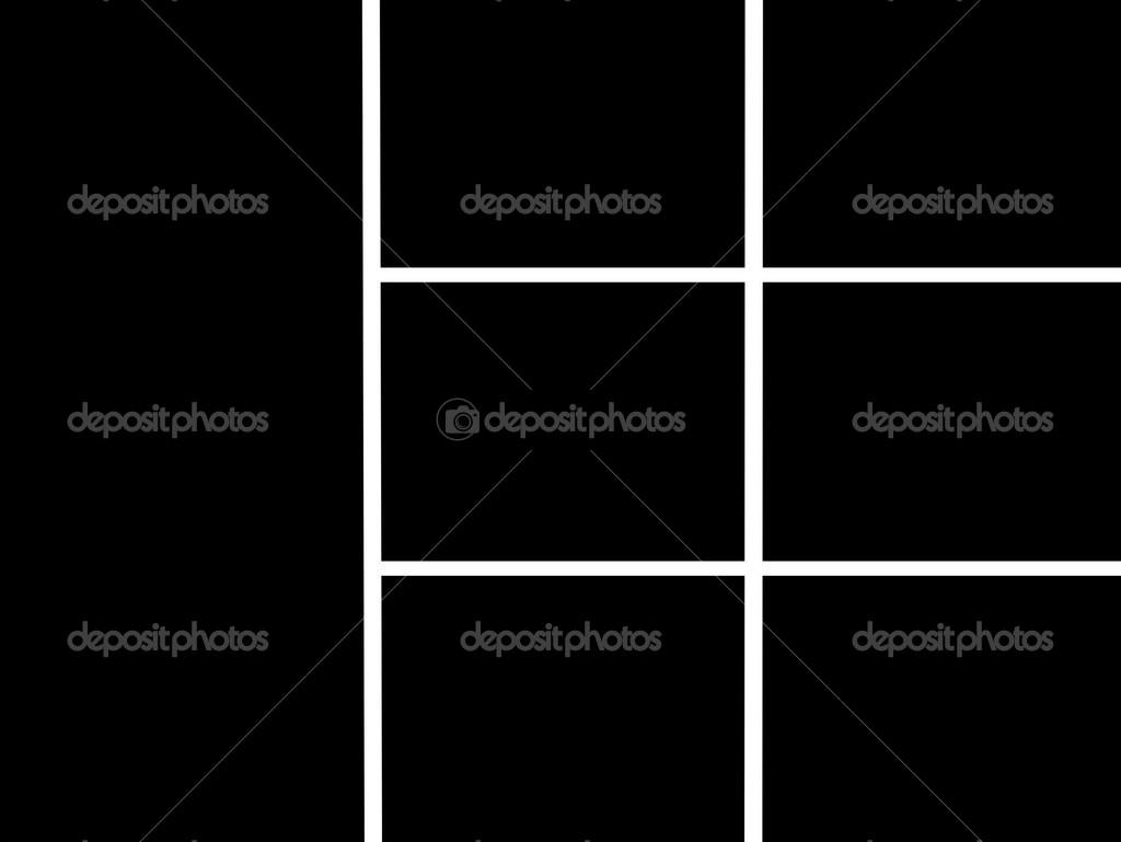 marco en blanco y negro de la base para la creación de collage ...