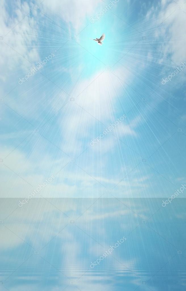 light beam and holy spirit