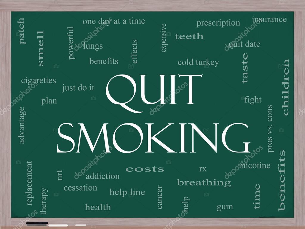 Roken Op — Stockfoto Cloud Concept Een Met Schoolbord Stoppen Word PXN8O0nwk