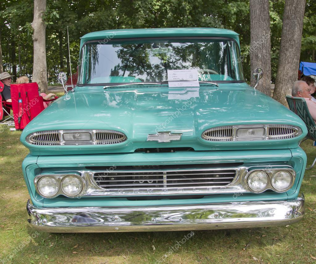 blue 1960 chevy apache truck front stock editorial photo mybaitshop 12509665. Black Bedroom Furniture Sets. Home Design Ideas