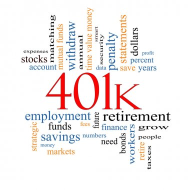 401k Word Cloud Concept