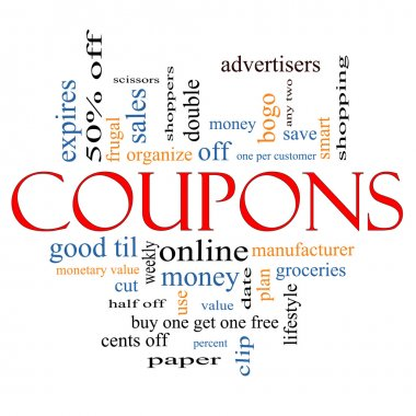 Coupons Word Cloud Concept