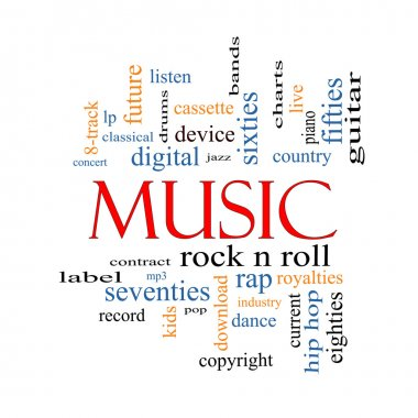 Music Word Cloud Concept