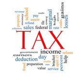 Fotografie Tax Word Cloud Concept