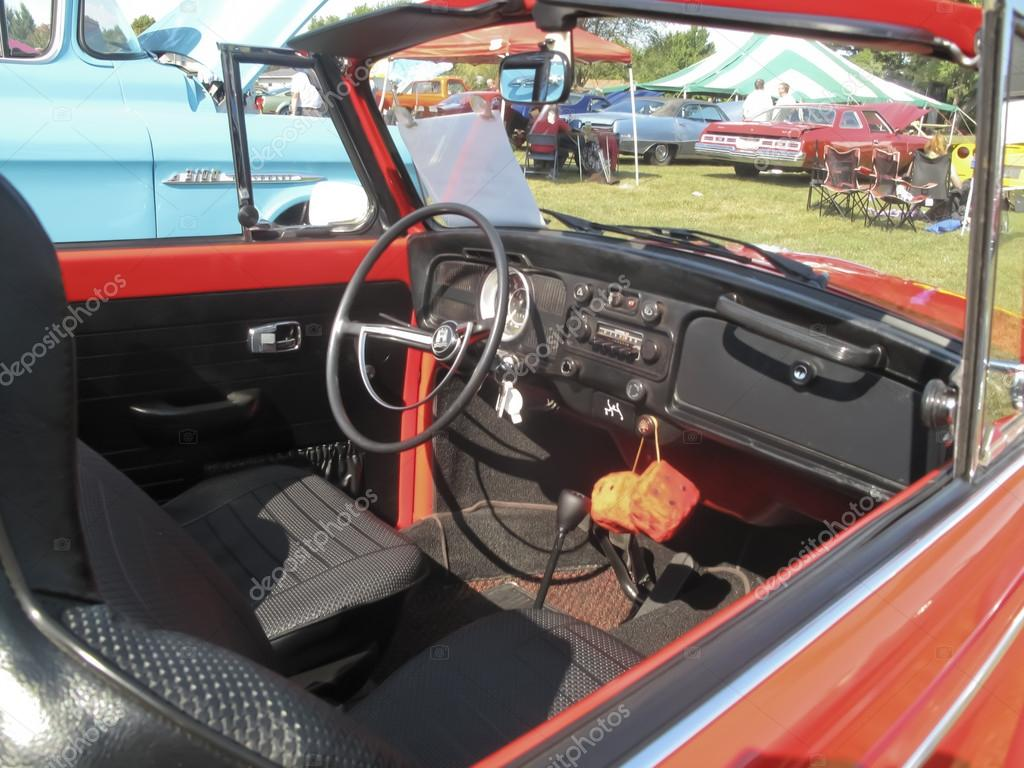 Red Vw Beetle 1971 Red Vw Super Beetle Interior Stock Editorial Photo C Mybaitshop 19397781