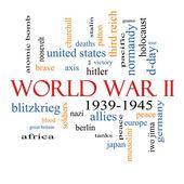 Fotografia concetto di nube parola ii guerra mondiale