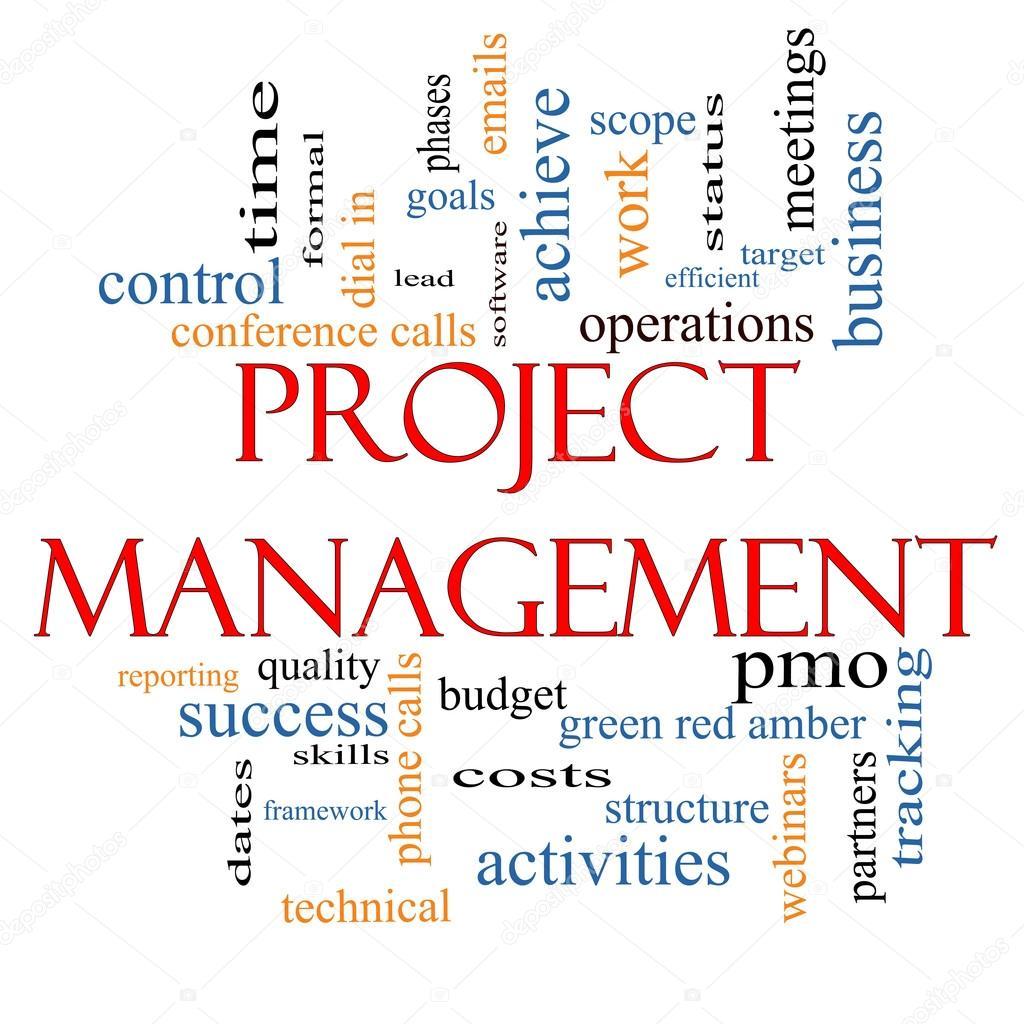 Project Management Word Cloud Concept