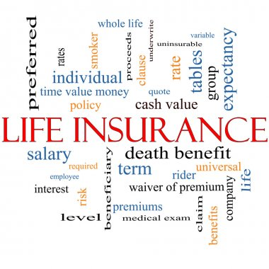 Life Insurance Word Cloud Concept