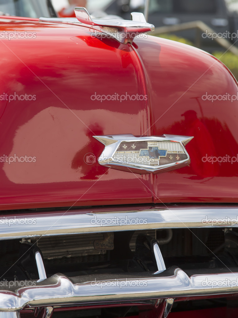 1954 Red Chevy Bel Air Emblem Stock Editorial Photo Mybaitshop