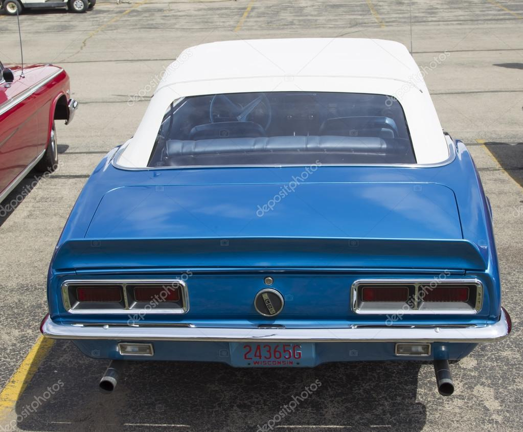 1968 Blue Chevy Camaro Rear View Stock Editorial Photo Chevrolet