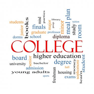 College Word Cloud Concept
