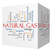 Photo Natural Gas 3D cube Word Cloud Concept