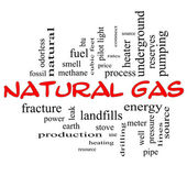 Photo Natural Gas Word Cloud Concept in red caps
