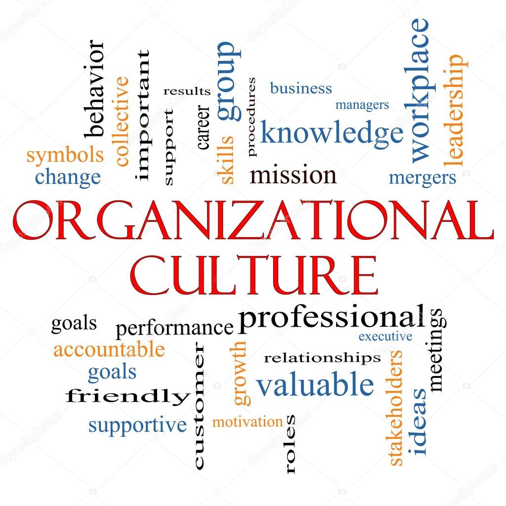 Organizational Culture Word Cloud Concept Stock Photo Mybaitshop
