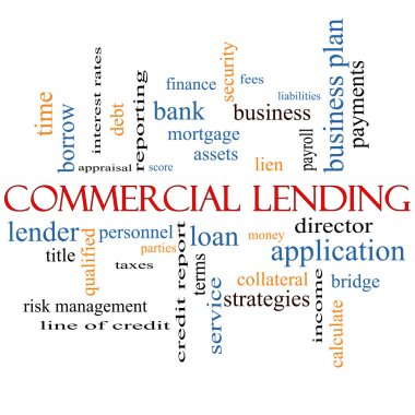 Commercial Lending Word Cloud Concept
