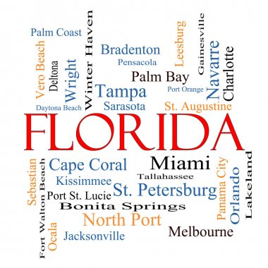 Florida State Word Cloud Concept