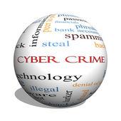 Cyber zločin 3d koule slovo mrak koncepce