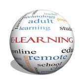 e-learning 3d koule slovo mrak koncept