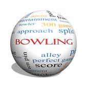 bowling 3d koule slovo mrak koncepce