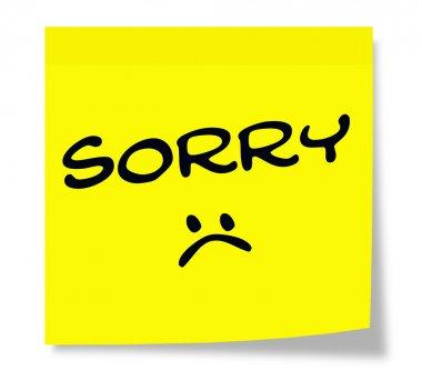 Sorry Sad Face Sticky Note