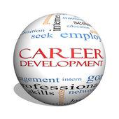 Kariéra 3d koule slovo mrak koncepce rozvoje
