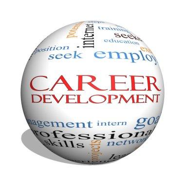 Career Development 3D sphere Word Cloud Concept