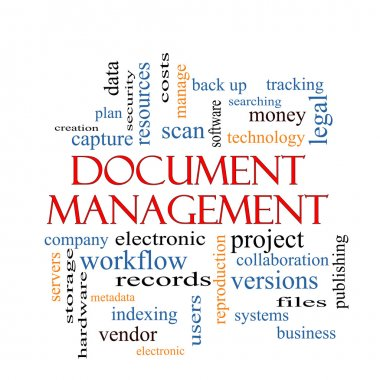 Document Management Word Cloud Concept