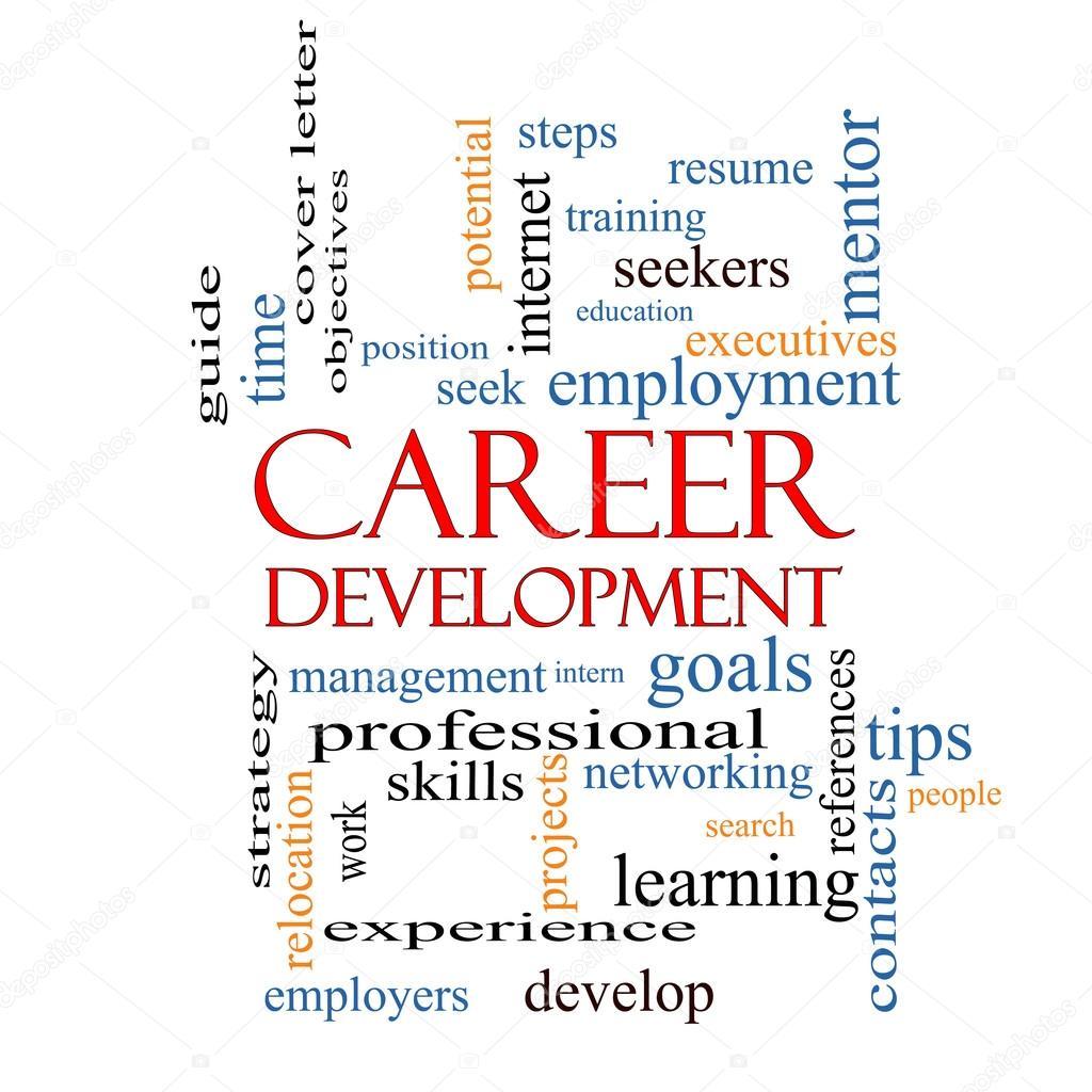 concepto de nube de palabras de desarrollo de carrera — Foto de ...