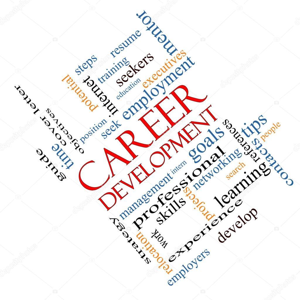 concepto de nube de palabras de desarrollo de carrera en ángulo ...
