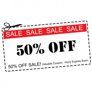 Fifty Percent Off Sale Coupon