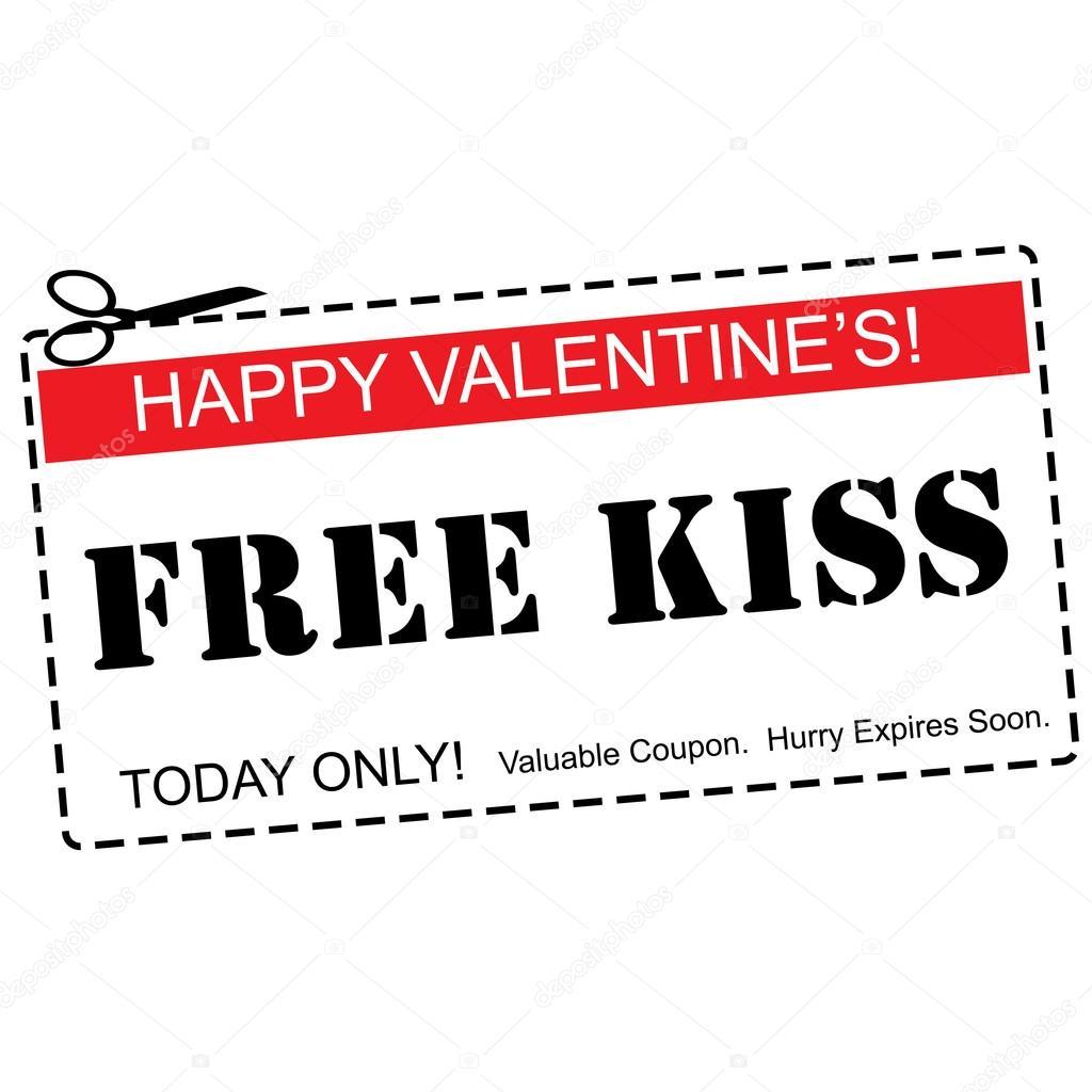 imágenes cupones para besos concepto de beso san valentín día