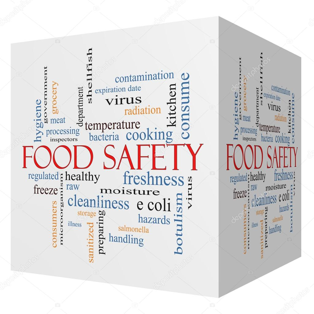 Food Safety 3D cube Word Cloud Concept — Stock Photo © mybaitshop ...