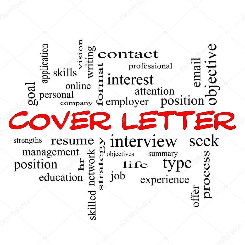 Cover letter word cloud concept in red caps stock photo cover letter word cloud concept in red caps with great terms such as interview resume summary and more photo by mybaitshop madrichimfo Image collections
