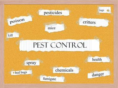 Pest Control Corkboard Word Concept