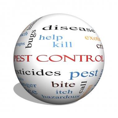 Pest Control 3D sphere Word Cloud Concept