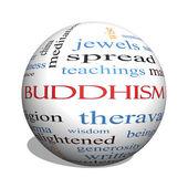 buddhismus 3d koule slovo mrak koncepce