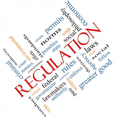 Regulation Word Cloud Concept Angled