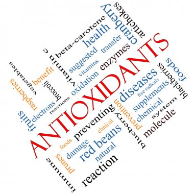 Antioxidants Word Cloud Concept Angled
