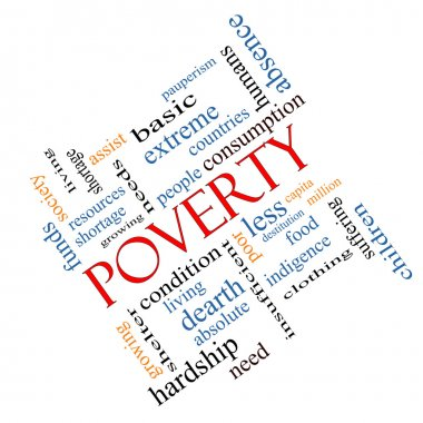 Poverty Word Cloud Concept Angled