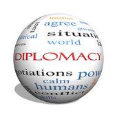 diplomacie 3d koule slovo mrak koncepce