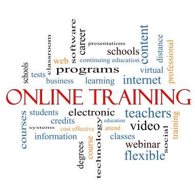 Online Training Word Cloud Concept