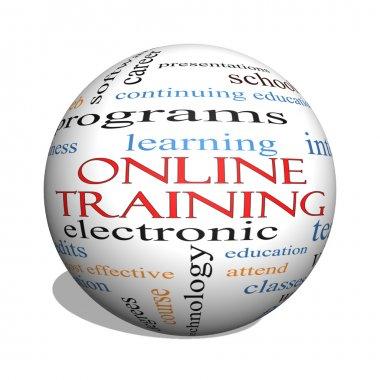 Online Training 3D sphere Word Cloud Concept