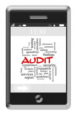 Audit Word Cloud Concept on a Touchscreen Phone