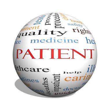 Patient 3D sphere Word Cloud Concept